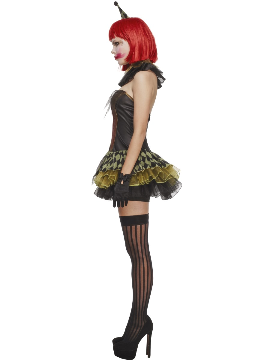 Adult Fever Creepy Zombie Clown Costume 43987 Fancy