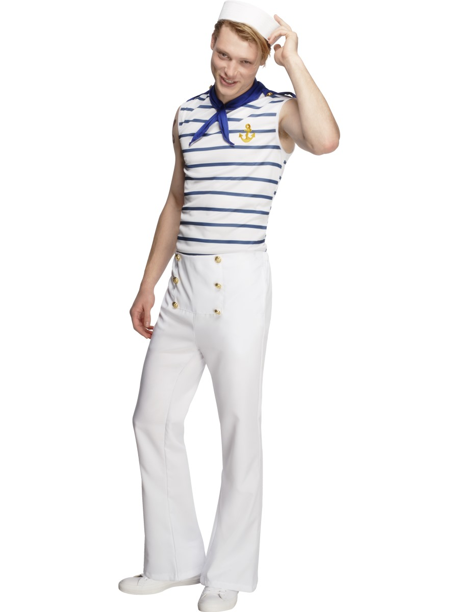Sailor Halloween Costume Men | Adult Fever Male French Sailor 20886 Fancy Dress Ball
