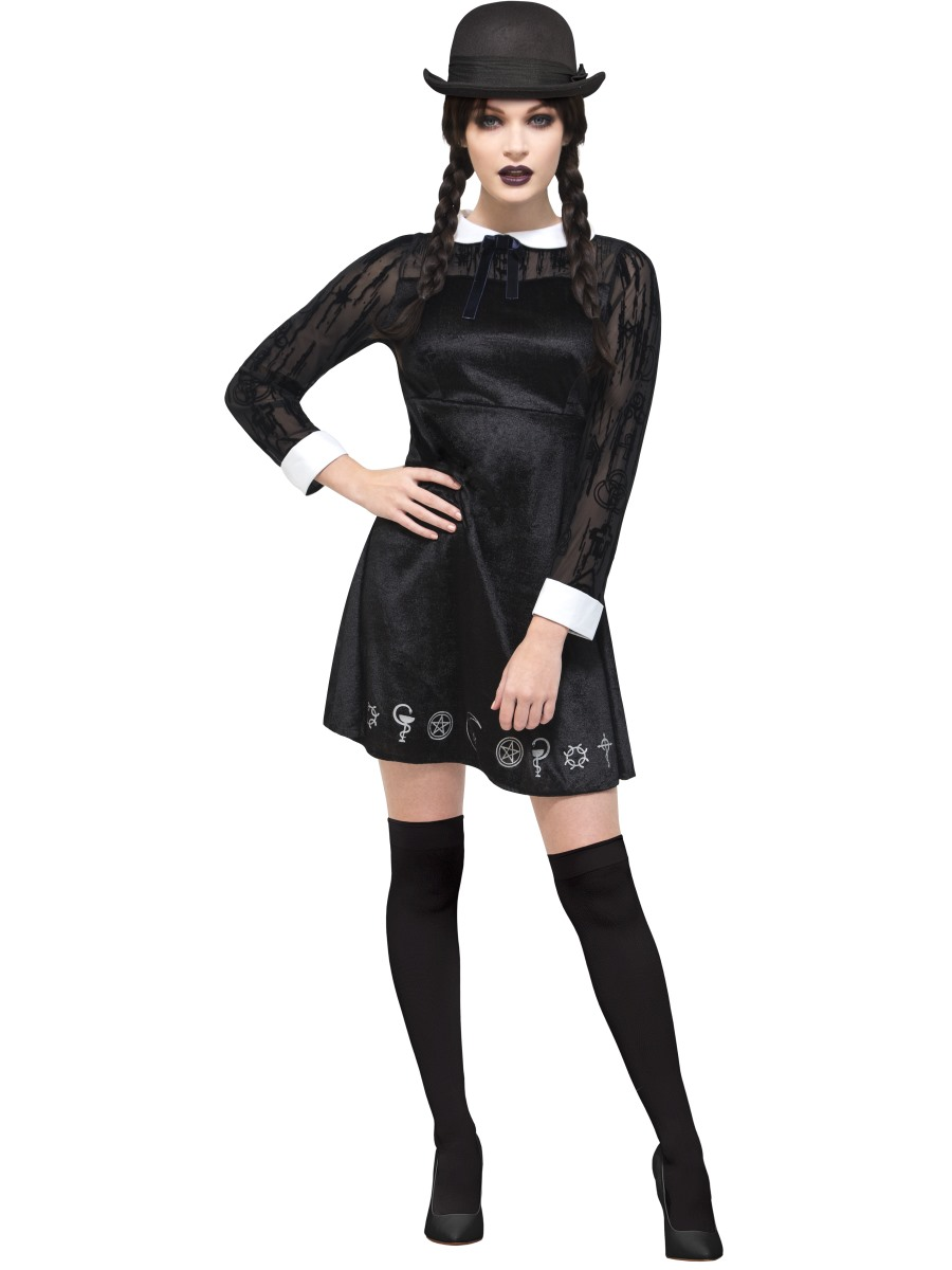 adult fever deluxe gothic school girl costume 45132. Black Bedroom Furniture Sets. Home Design Ideas