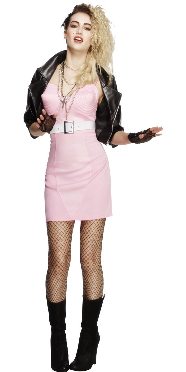 Adult 80s Rocker Diva Costume - 43477 - Fancy Dress Ball