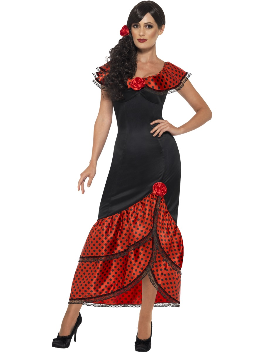 adult flamenco senorita costume 45514 fancy dress ball. Black Bedroom Furniture Sets. Home Design Ideas
