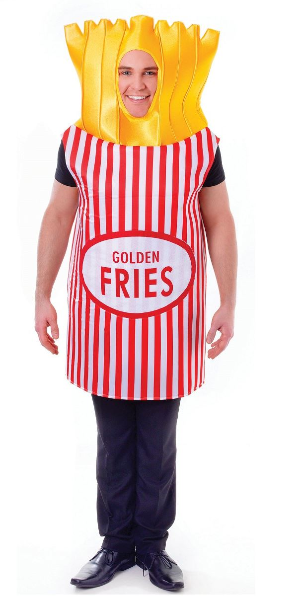Adult French Fries Costume Ac555 Fancy Dress Ball
