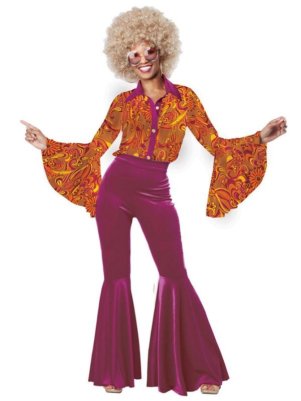Disco Costumes Adult 70s Dance Diva Halloween Fancy Dress