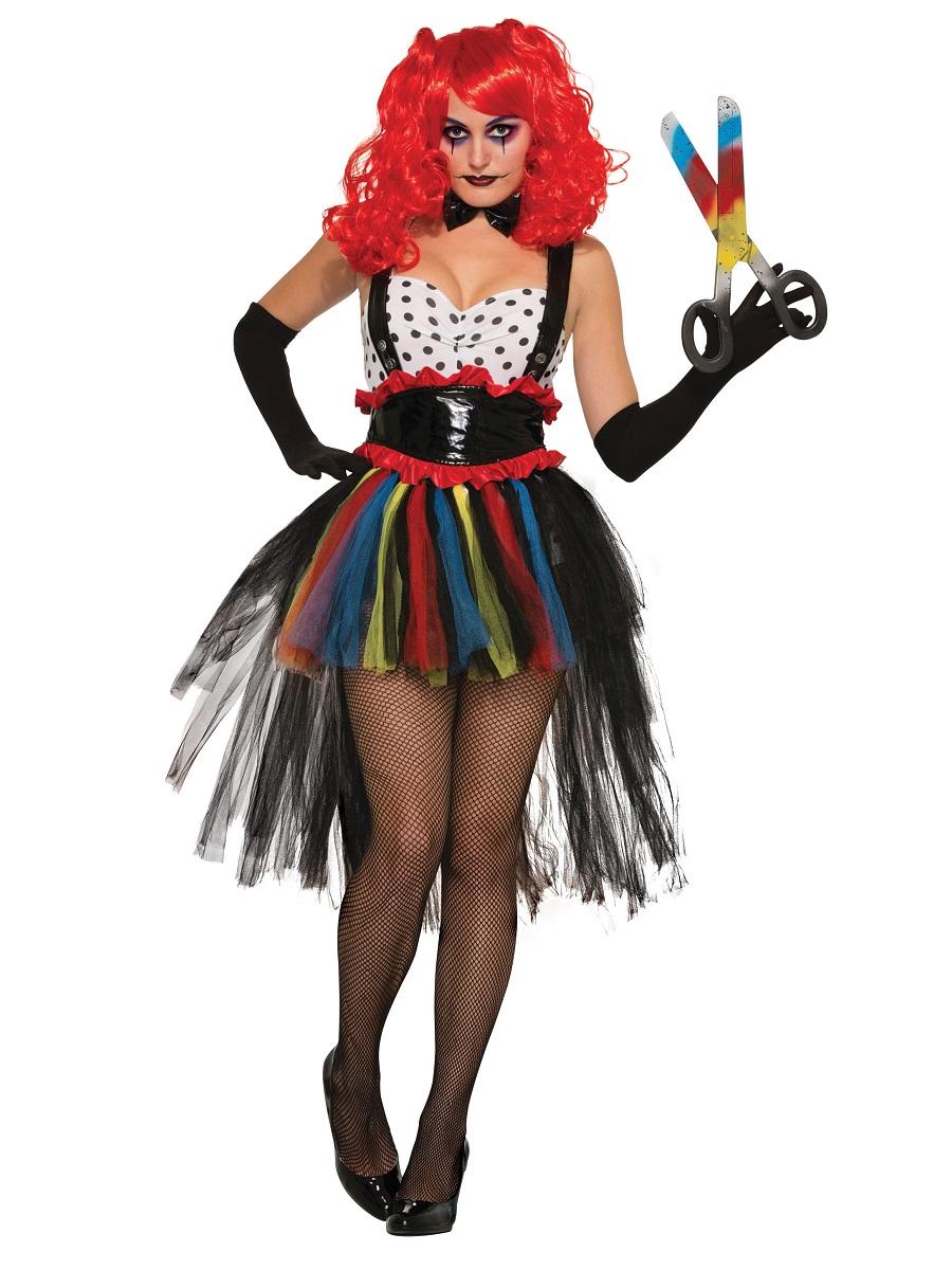 adult girlie evil clown costume x76975 fancy dress ball