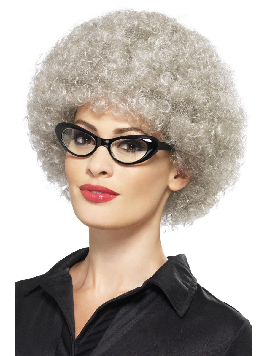 Adult Granny Perm Wig 43055 Fancy Dress Ball