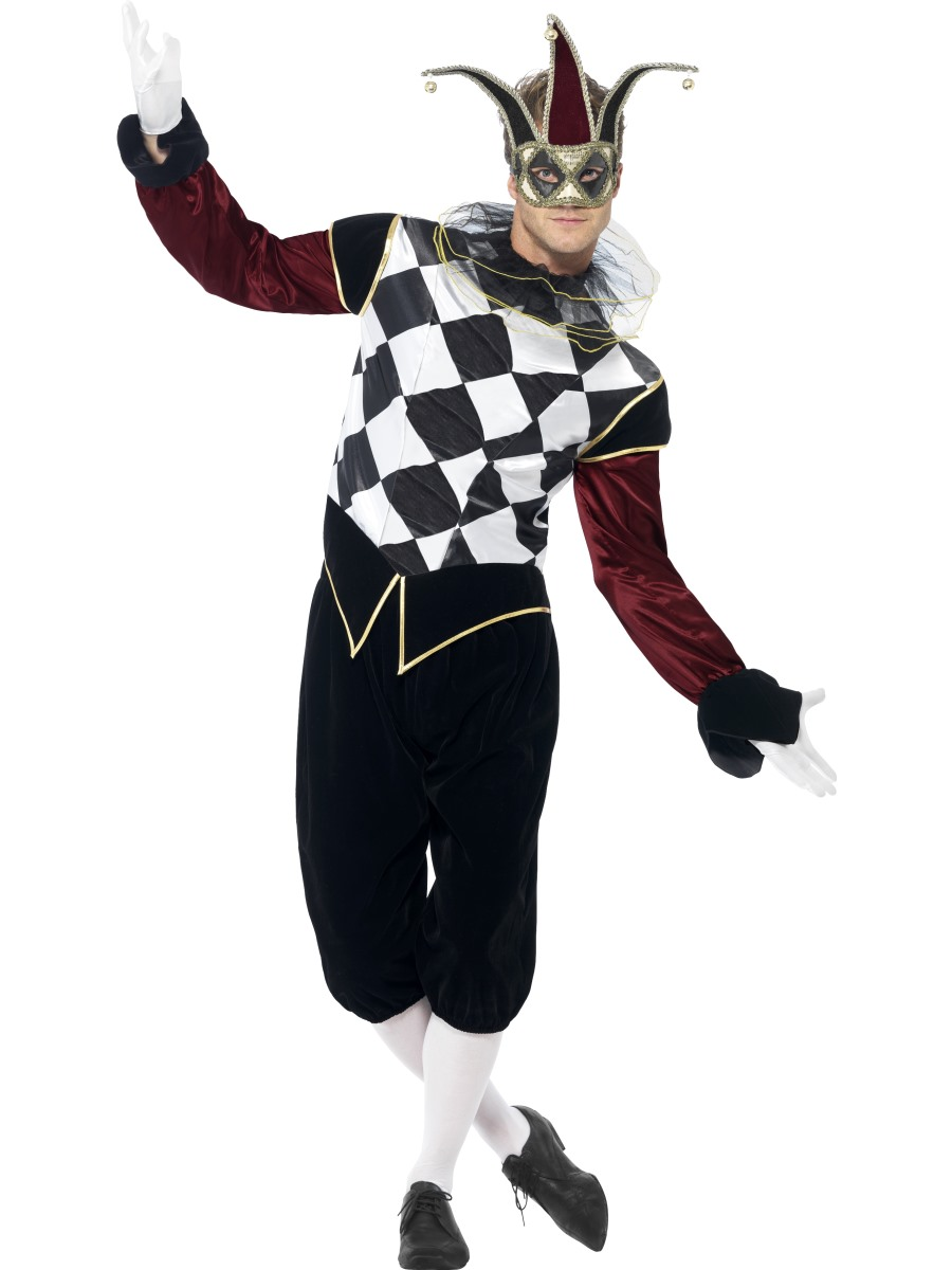 Adult Gothic Venetian Harlequin Male Costume 43653