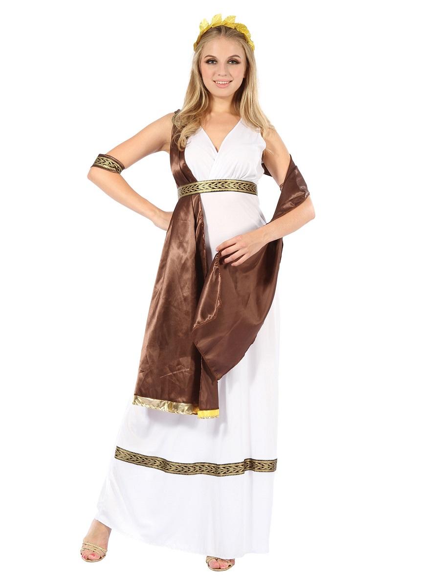 Adult Greek Goddess Costume Ac726 Fancy Dress Ball