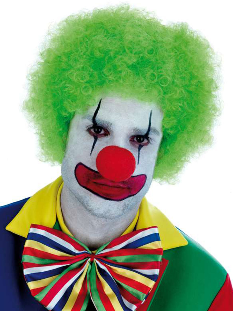 Adult Green Clown Wig Fs2746 Fancy Dress Ball