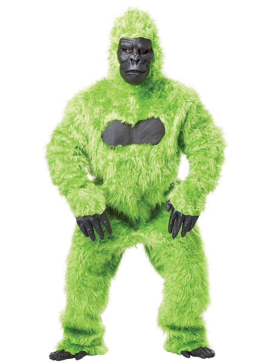 Adult Green Gorilla Costume 01010grn Fancy Dress Ball