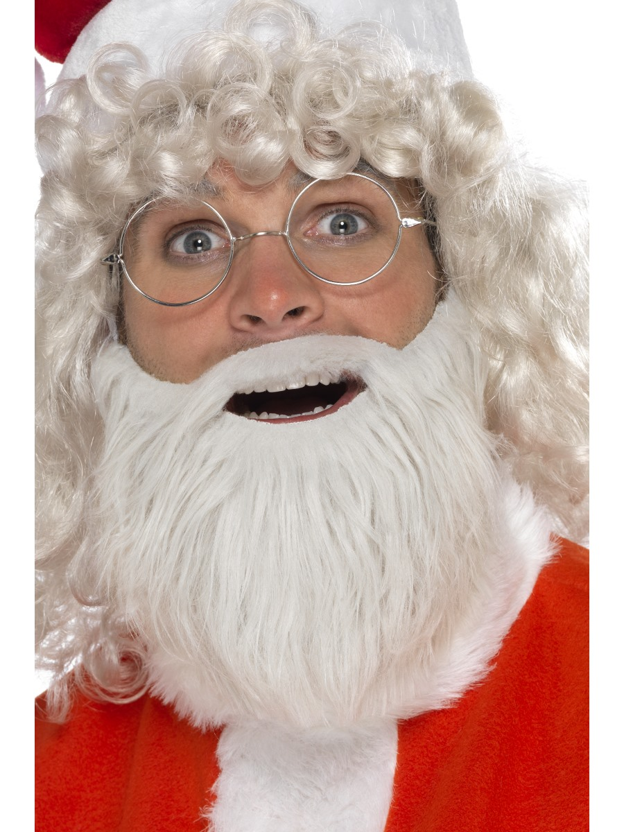 Adult Grey Santa Beard 21371 Fancy Dress Ball
