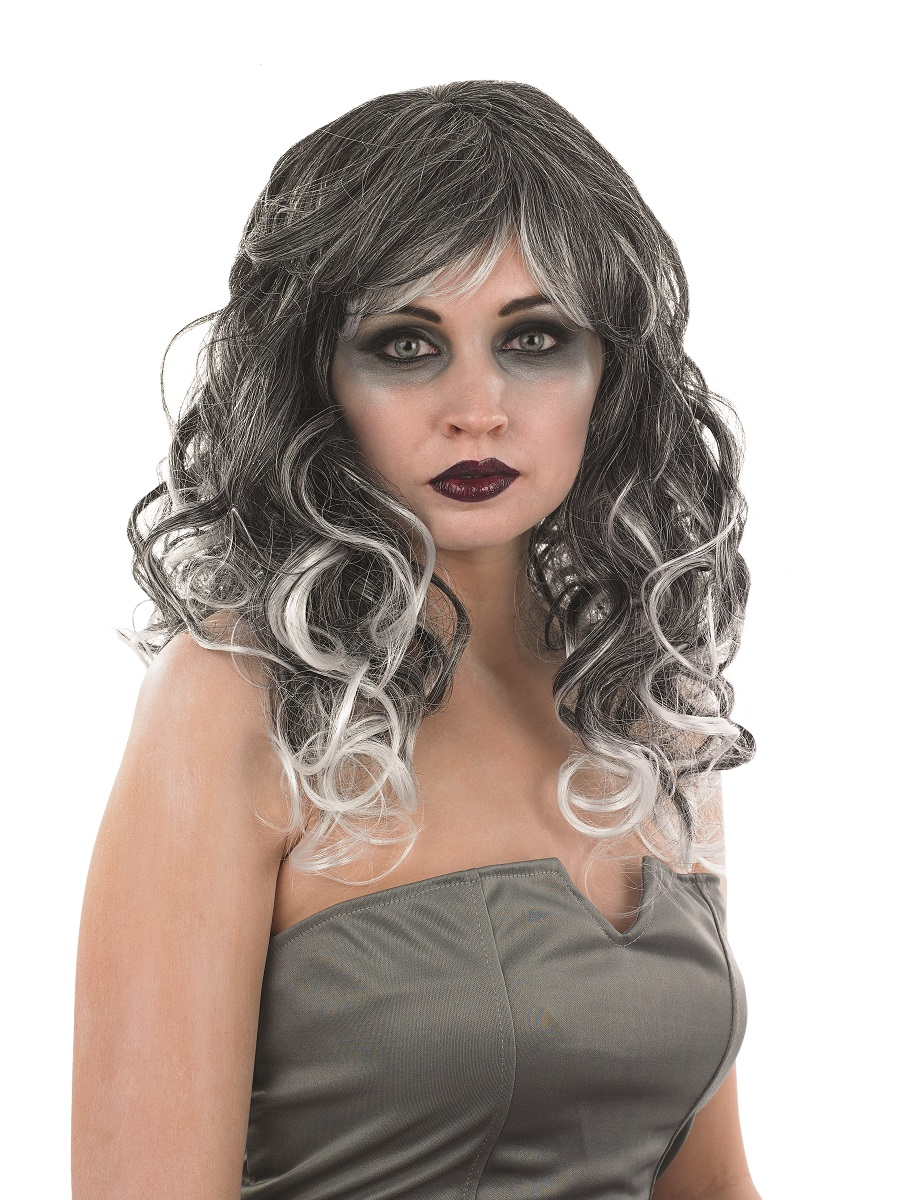 Adult Grey Temptress Wig Fs2893 Fancy Dress Ball