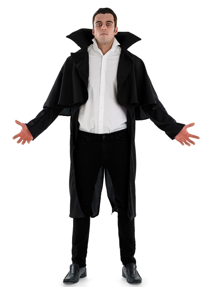 Adult Black V&ire Coat. Adult Black V&ire Coat  sc 1 st  Fancy Dress Ball & Adult Black Vampire Coat - FS3767 - Fancy Dress Ball