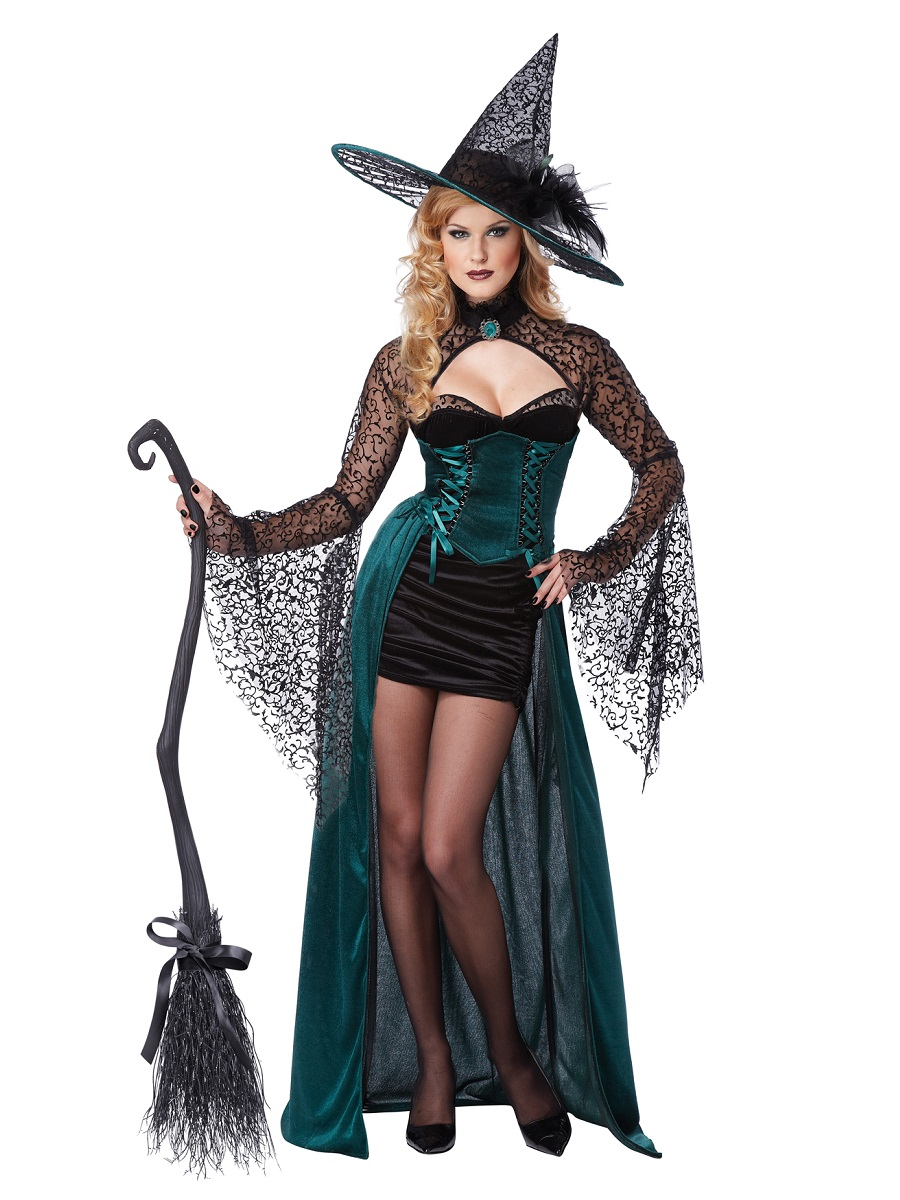 Adult Deluxe Enchantress Witch Costume  sc 1 st  Fancy Dress Ball & Adult Deluxe Enchantress Witch Costume - 01329 - Fancy Dress Ball