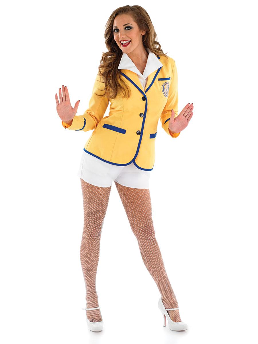 Christmas dress infant - Adult Hi De Hi Female Yellow Coat Costume Fs3681 Fancy Dress Ball