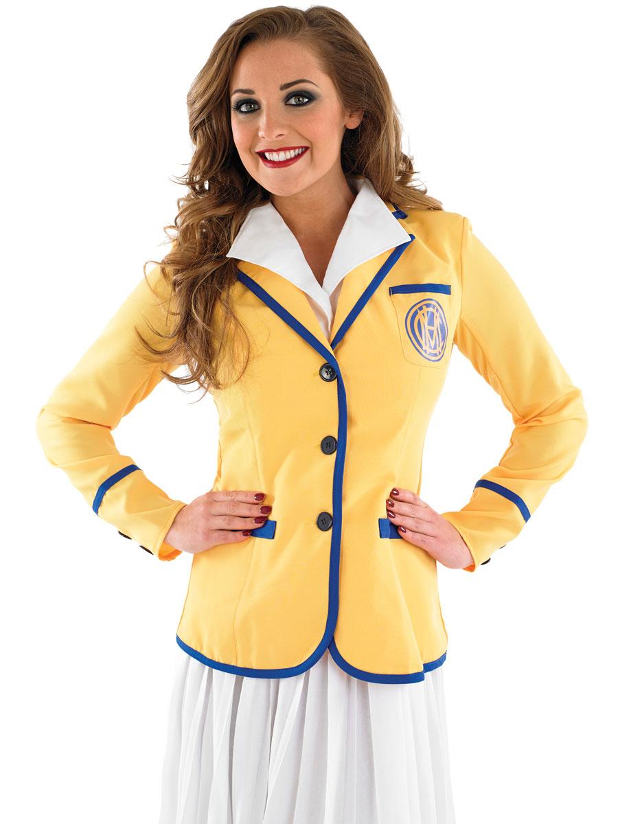 Adult Hi De Hi Female Yellow Coat Costume Fs3796 Fancy
