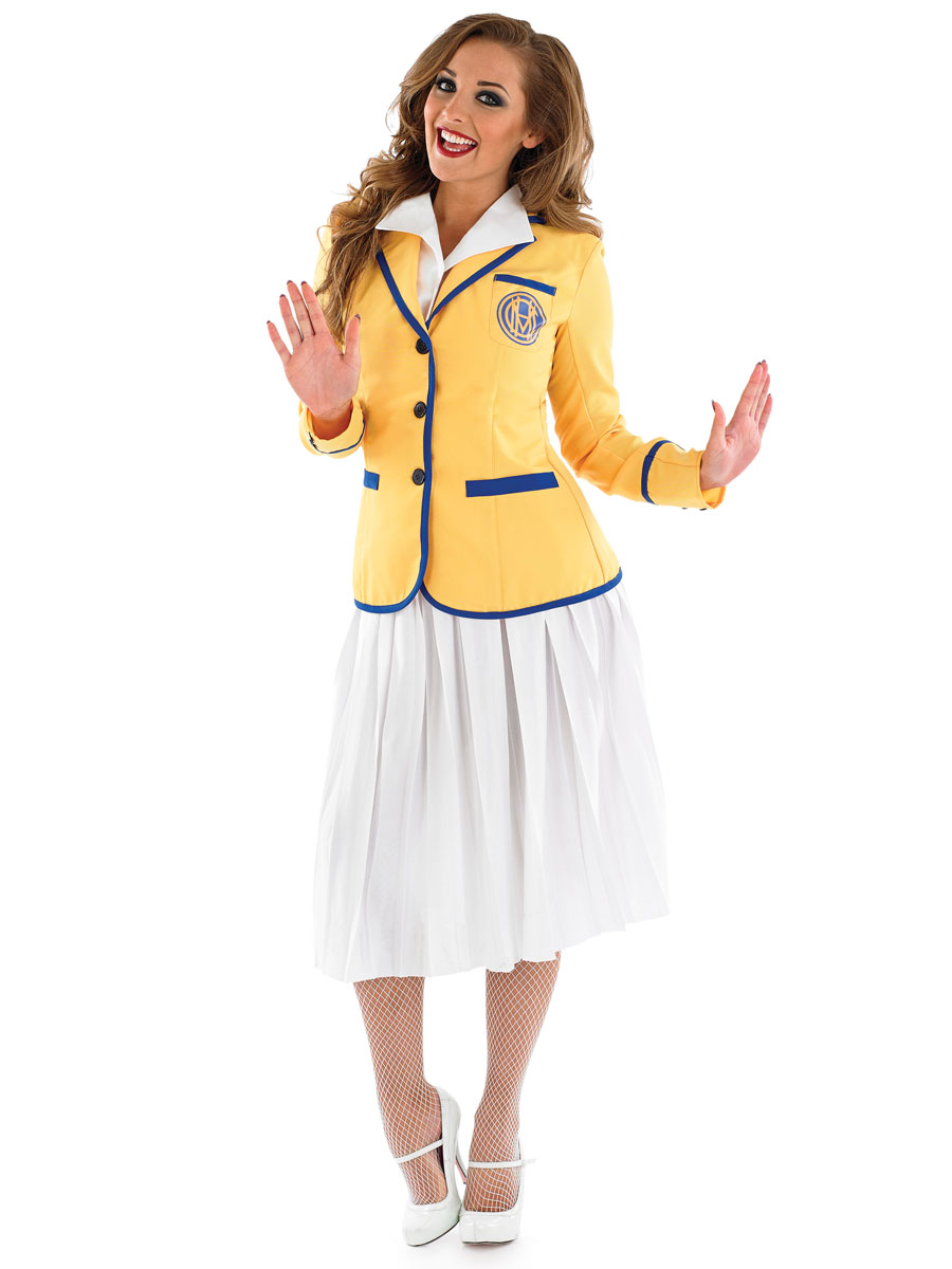 adult hi de hi female yellow coat costume - fs3796
