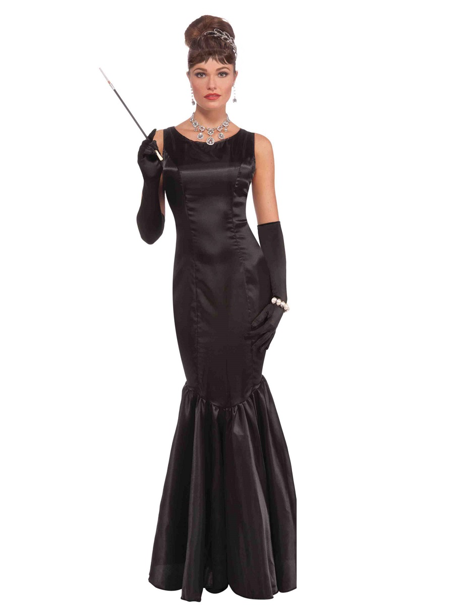 adult high society long black dress costume ac547 fancy dress ball. Black Bedroom Furniture Sets. Home Design Ideas