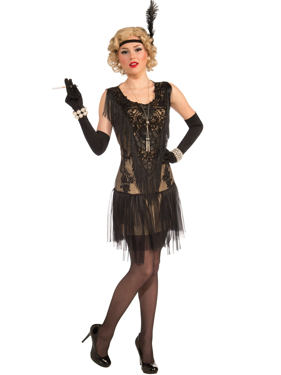 Adult Deluxe Flapper Costume Ac569 Fancy Dress Ball