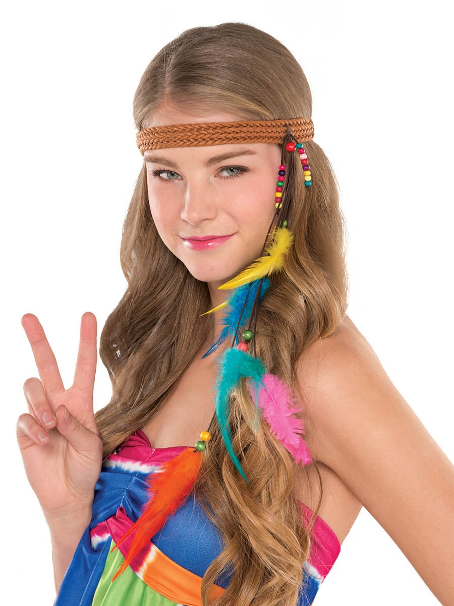 Adult Hippie Headband 843491 Fancy Dress Ball