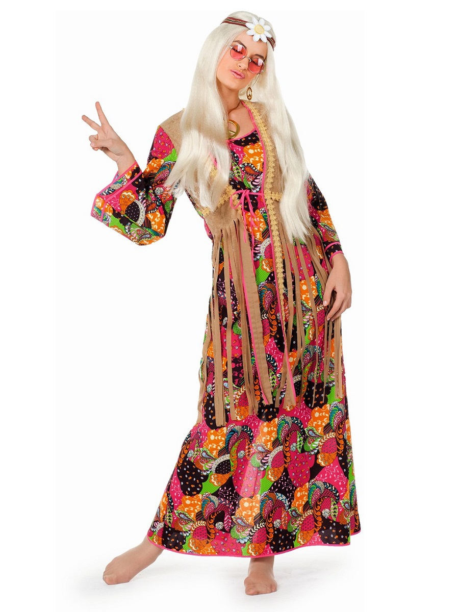 Adult Hippy Long Dress Costume - 4456 - Fancy Dress Ball