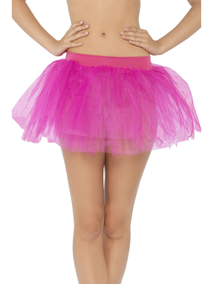 hot pink tutu petticoat pettiskirt fancy dress outfit 1980s hen do party 30759
