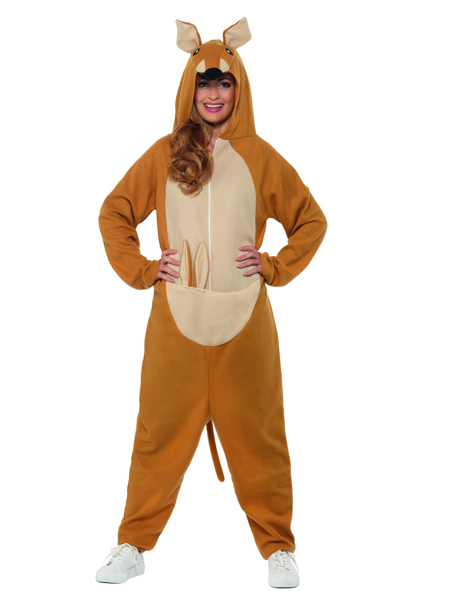 Adult Kangaroo Onesie Costume 47218 Fancy Dress Ball