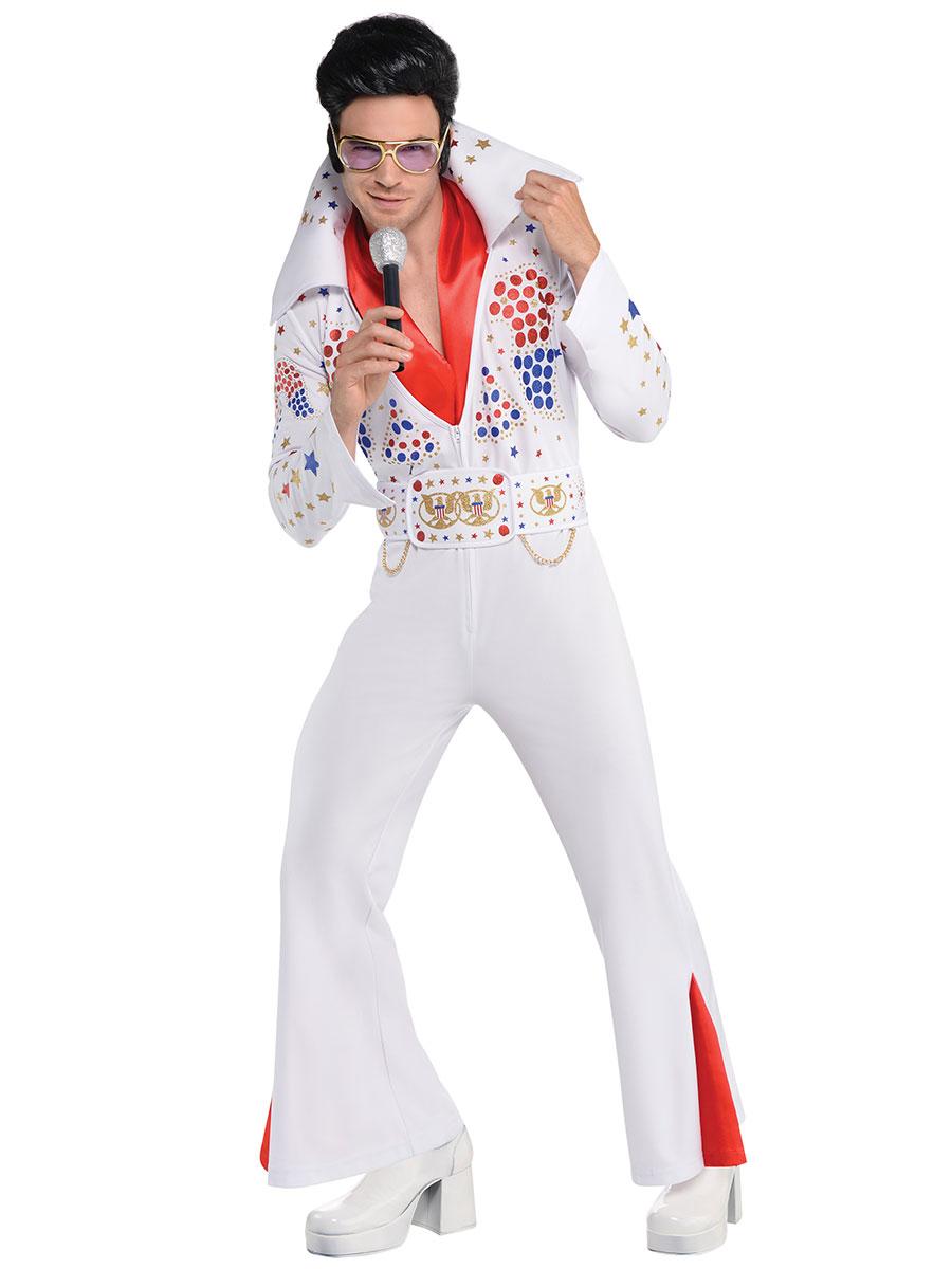 Elvis fancy dress costumes a range of elvis presley fancy dress adult king of vegas elvis costume solutioingenieria Image collections