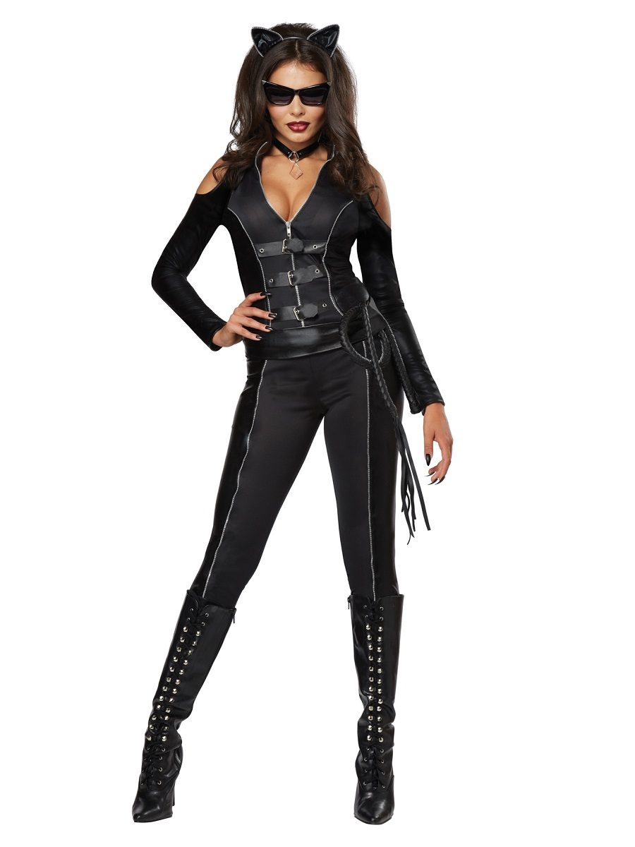 adult fatal feline catwoman costume 01342 fancy dress ball. Black Bedroom Furniture Sets. Home Design Ideas