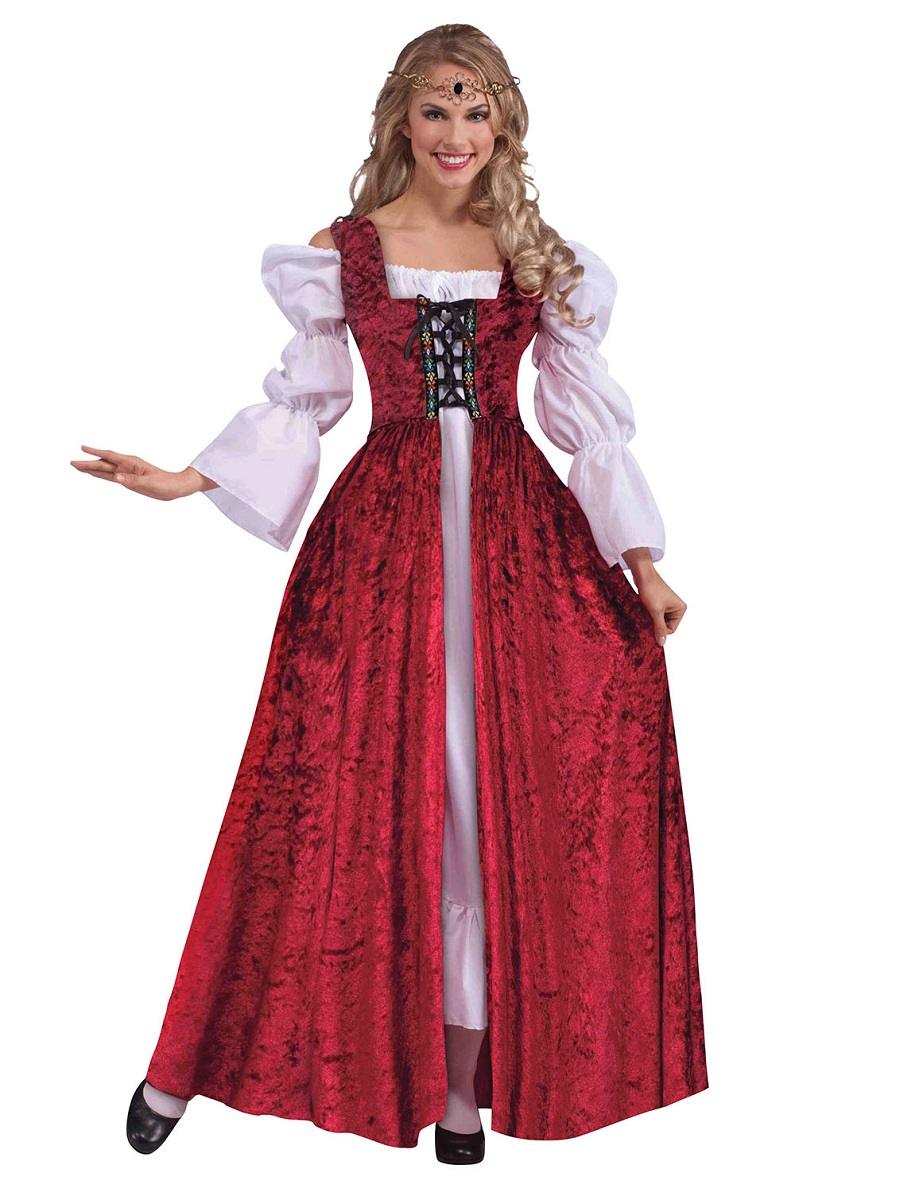 adult ladies medieval gown ac191 fancy dress ball. Black Bedroom Furniture Sets. Home Design Ideas