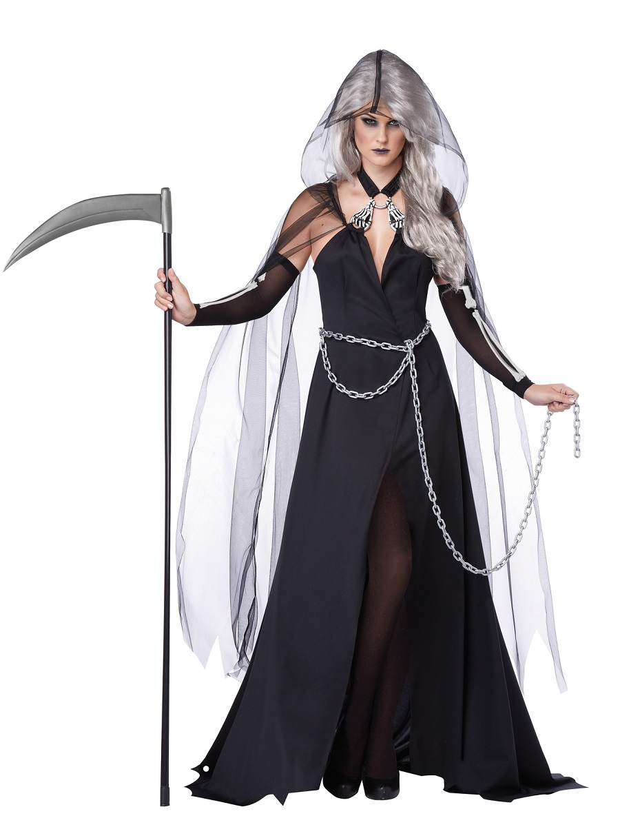 Adult Lady Reaper Costume 01333 Fancy Dress Ball