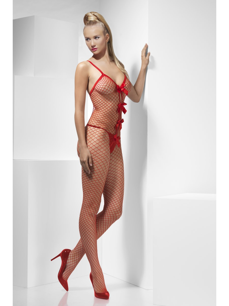 Adult Lattice Halterneck Body Stocking 43566 Fancy