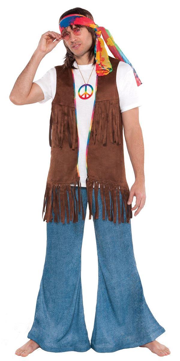 Adult Male Long Hippie Vest  sc 1 st  Fancy Dress Ball & Adult Male Long Hippie Vest - 843050-55 - Fancy Dress Ball