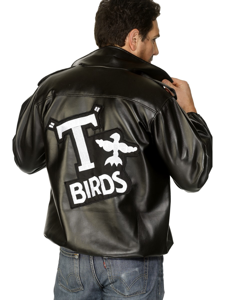 50s 60s T-Bird Danny T Bird Pink Ladies Jacket Costume Hen Stag Do Fancy Dress