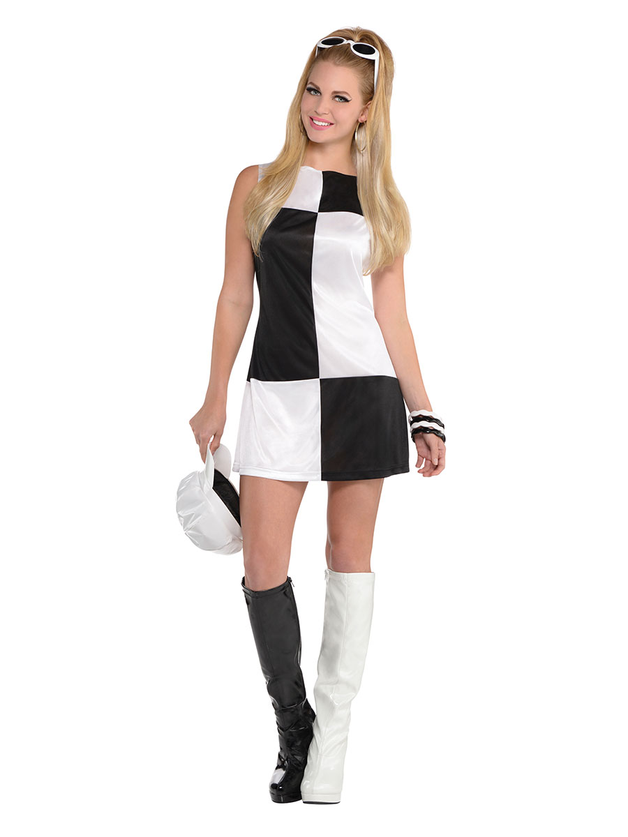 Adult Mod Girl Costume - 846385-55 - Fancy Dress Ball