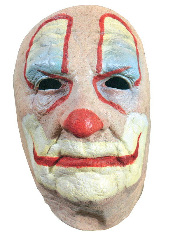 Adult Old Clown Face Mask Cd101 Fancy Dress Ball