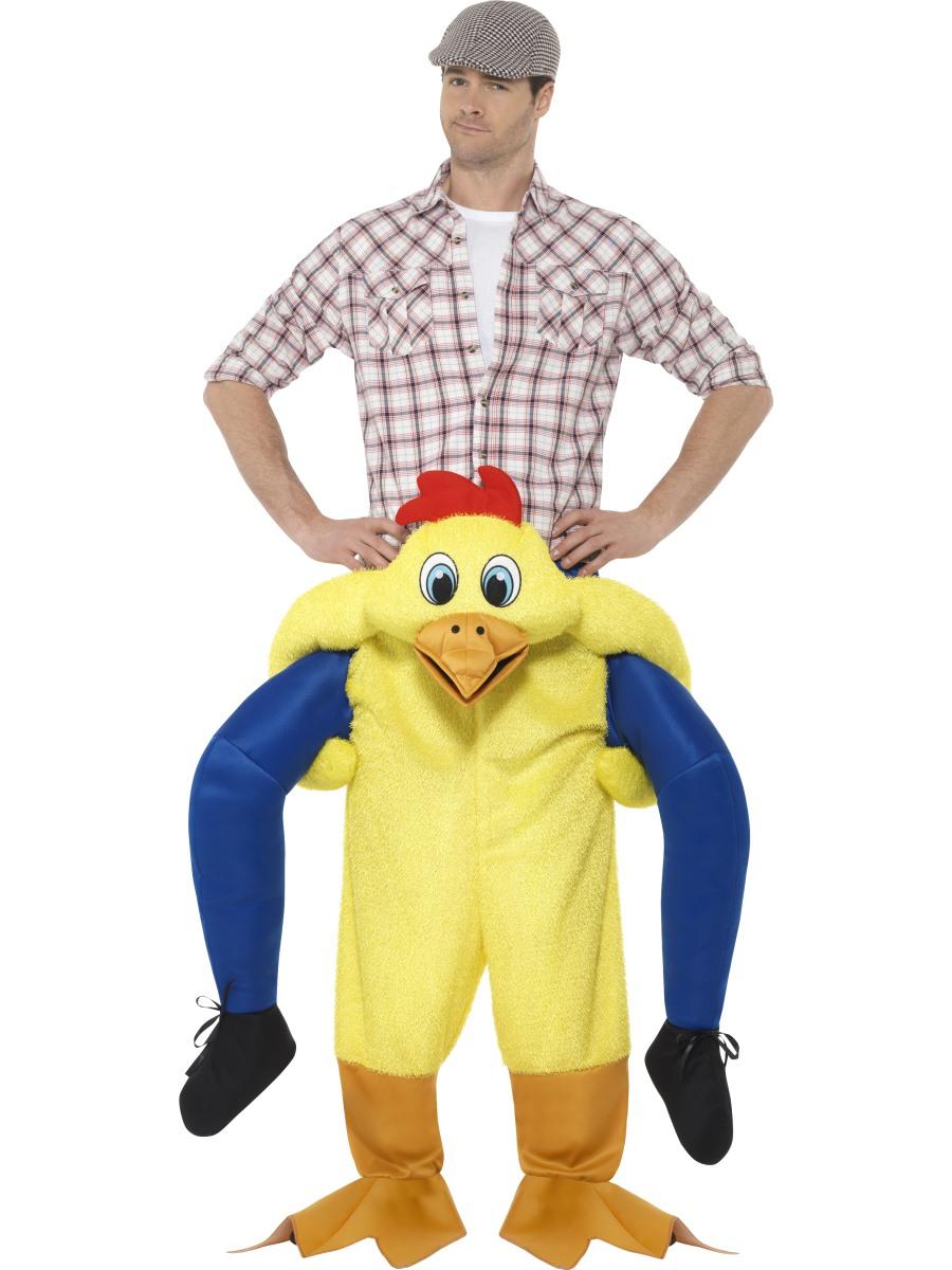 Adult Piggy Back Chicken Costume 48812 Fancy Dress Ball