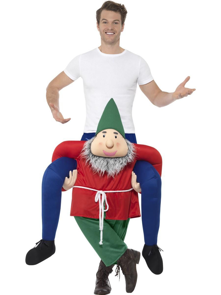 Adult Piggy Back Gnome Costume 48818 Fancy Dress Ball