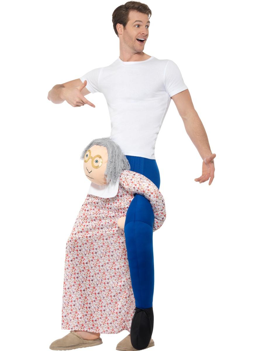Adult Piggy Back Grandma Costume 48813 Fancy Dress Ball