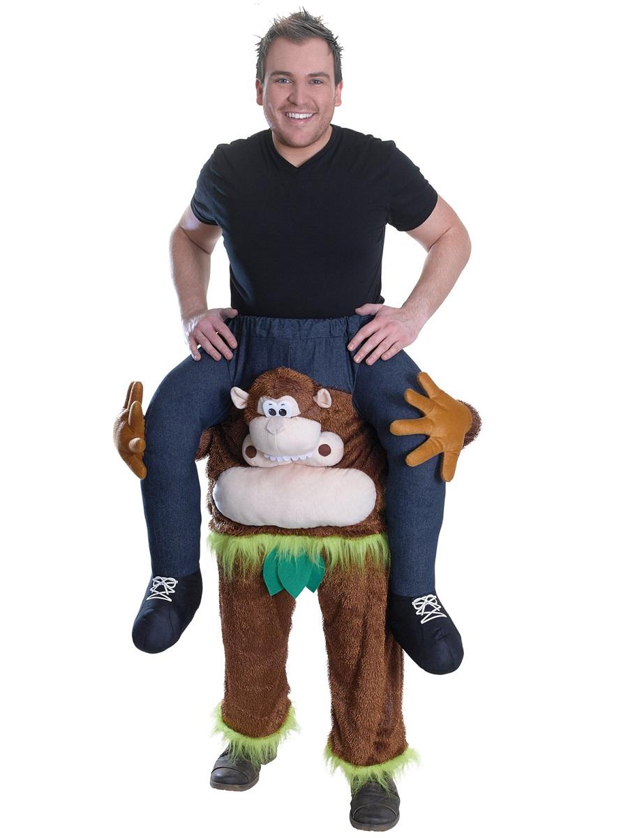 adult piggy back monkey costume ac843 fancy dress ball. Black Bedroom Furniture Sets. Home Design Ideas