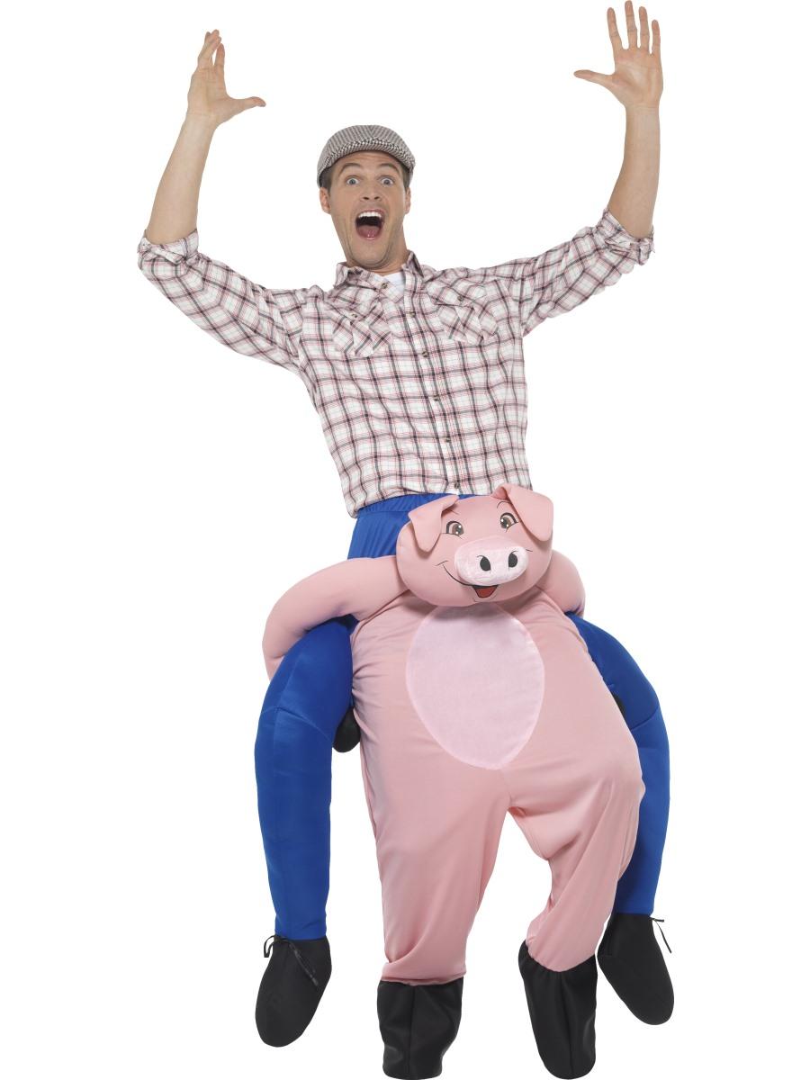 Adult Piggy Back Pig Costume 47157 Fancy Dress Ball
