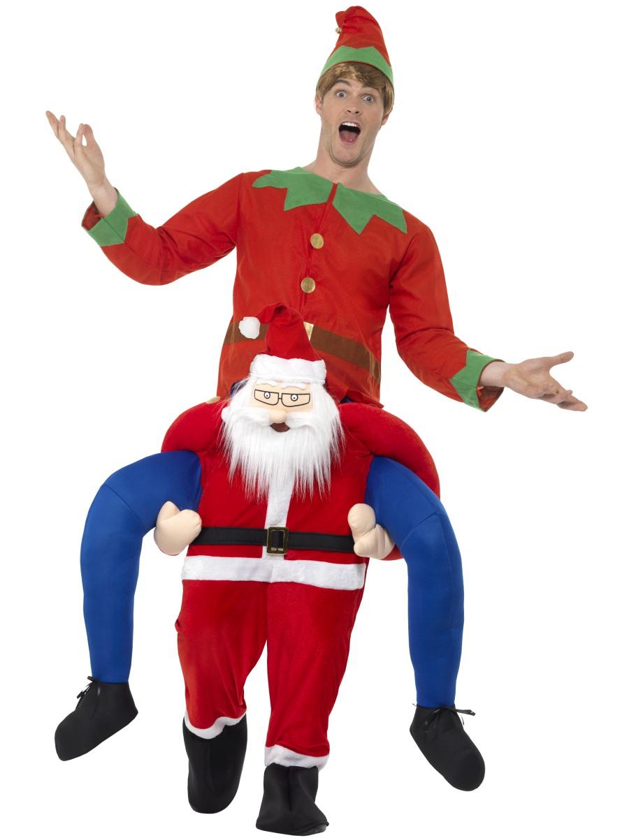 Adult piggy back santa costume  fancy dress ball