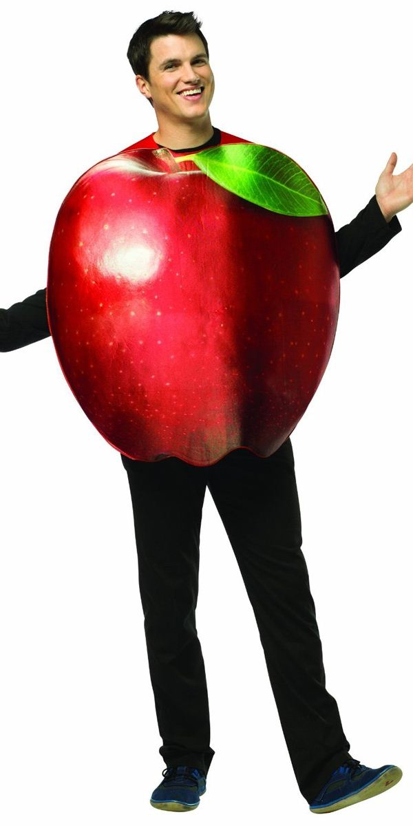 Adult Get Real Apple Costume 6830 Fancy Dress Ball