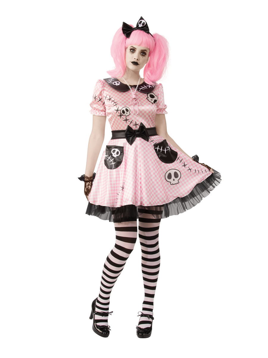Adult Pink Skelly Costume R701082 Fancy Dress Ball