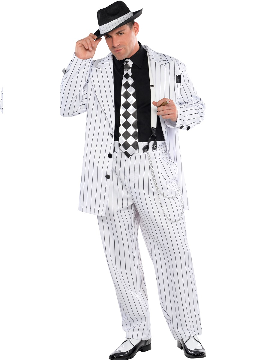 Fancy Dress > Mens Grease Costumes > Adult Pinstripe Daddy Costume