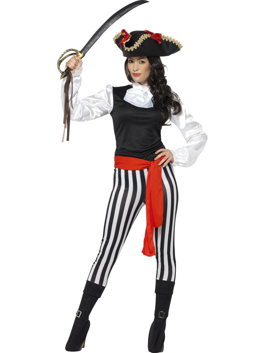 what is letter size pirate costume 25561 fancy dress 25561 | adult pirate lady costume 25561