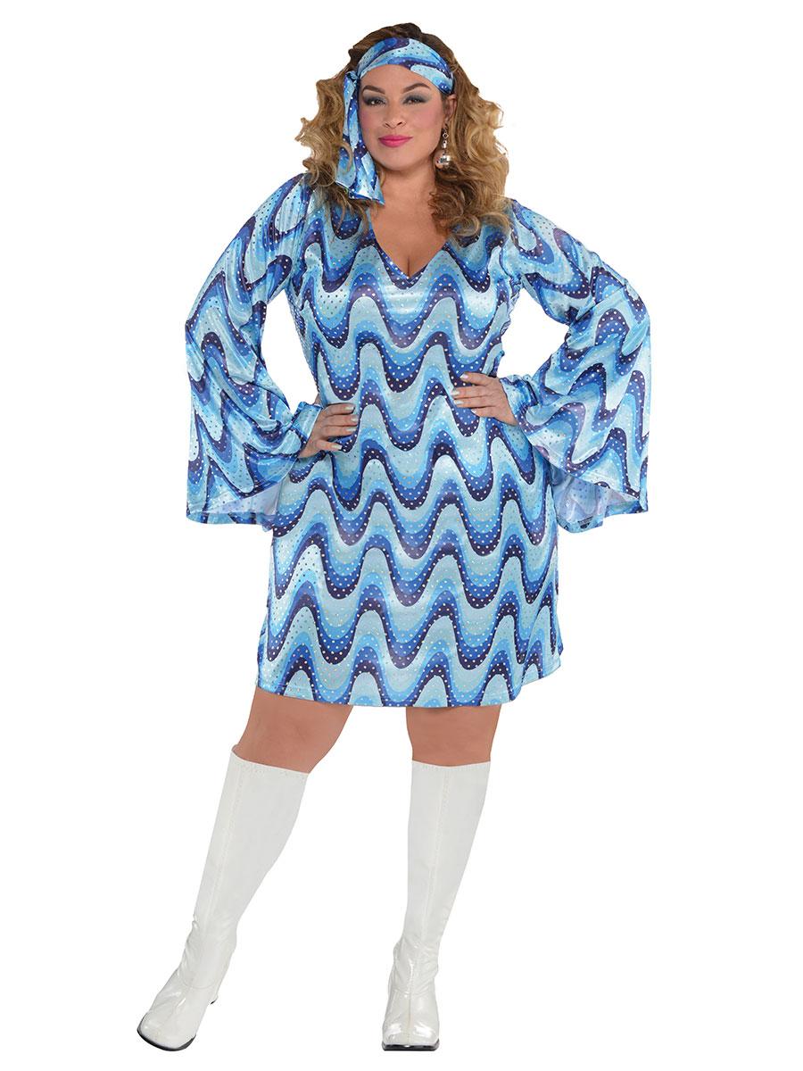 Adult Plus Size Disco Lady Costume 847830 55 Fancy Dress Ball