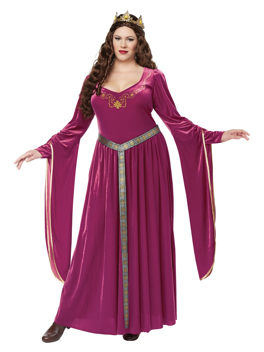 Adult Plus Size Lady Guinevere Costume - 01718 - Fancy Dress Ball