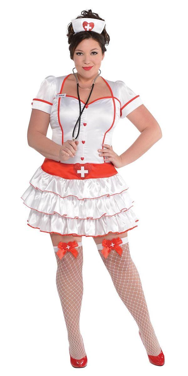Adult Plus Size Nurse Iv Costume 846975 55 Fancy Dress Ball
