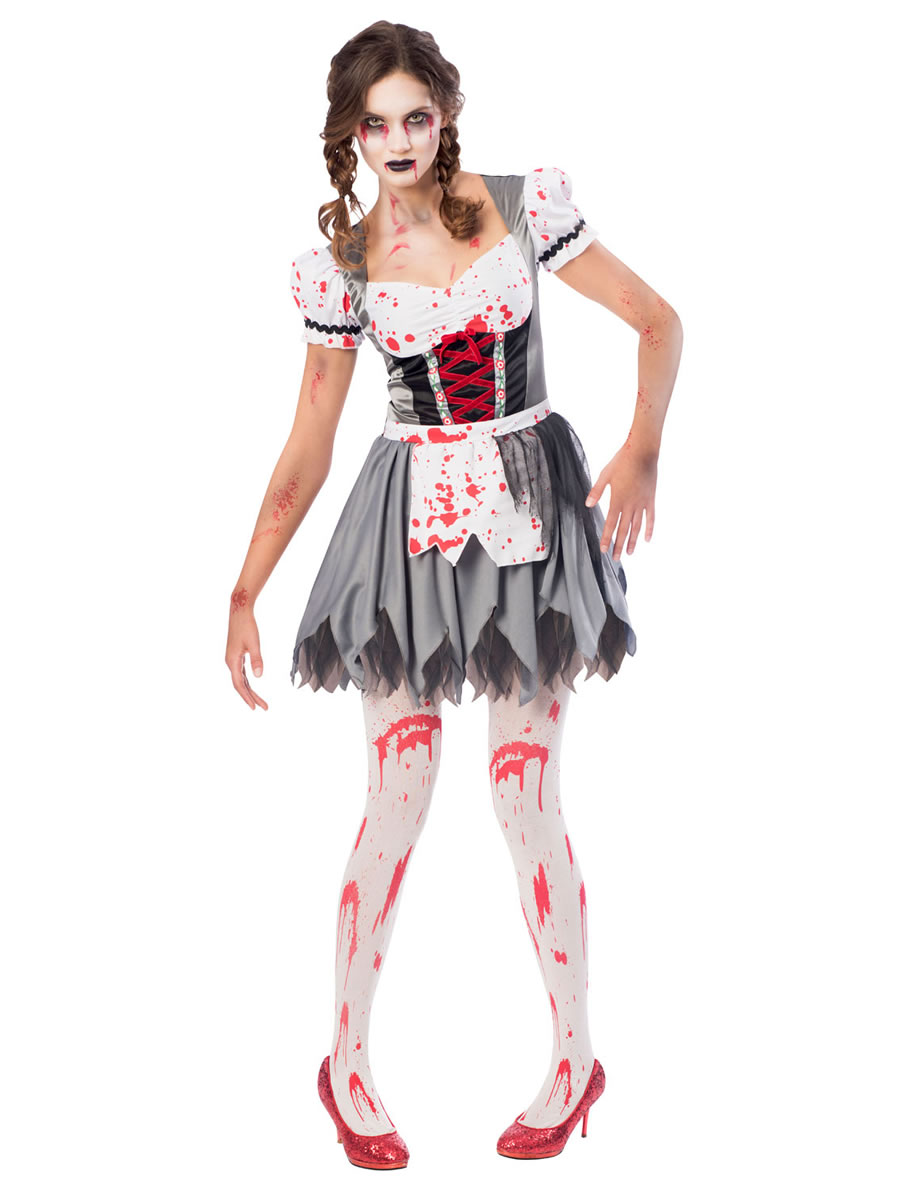 Halloween Zombie Costumes For Girls.Adult Plus Size Oktoberfest Zombie Costume