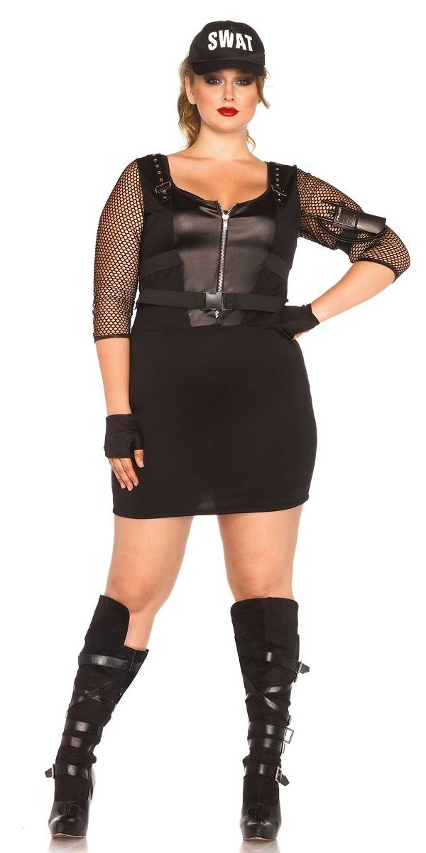 Adult Plus Size SWAT Officer Costume - 85421X